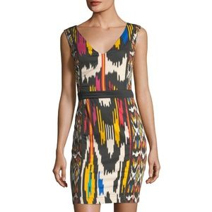 NWT French Connection Retro Print Sheath Dress